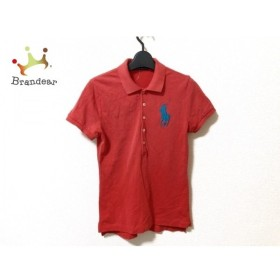 ラルフローレン 半袖ポロシャツ サイズS レディース ビッグポニー レッド×ライトブルー 新着 20190927