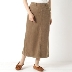 スカート レディース ロング 大人の女性のためのコーデュロイタイトスカート 「ベージュ」
