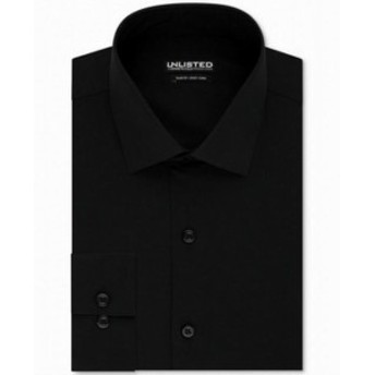 Kenneth Cole ケネスコール ファッション ドレス Kenneth Cole Mens Black Size 15 1/2 Slim Fit Button Up Dress Shirt
