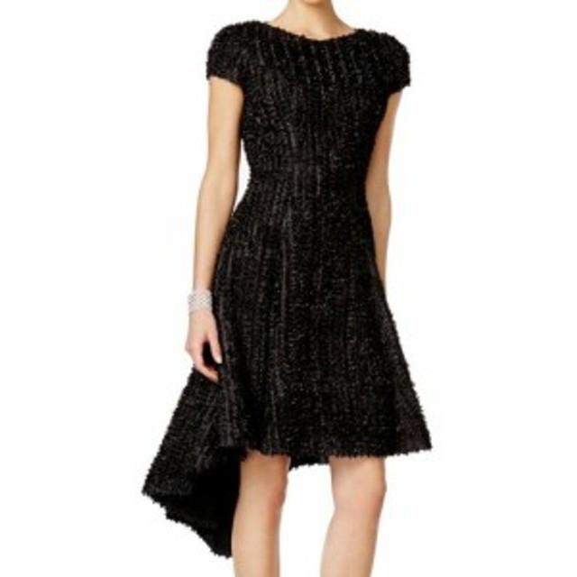 America  ファッション ドレス B Michael AMERICA NEW Black Womens Size 2 Textured A-Line Dress