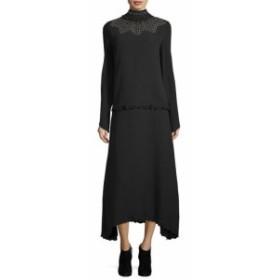 Derek Lam デレクラム ファッション ドレス Derek Lam 10 Crosby Studded Silk Midi Dress 38 Black