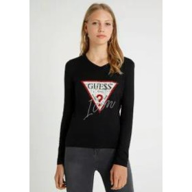 Guess レディースその他 Guess ICON TEE - Long sleeved top - jet black jet black