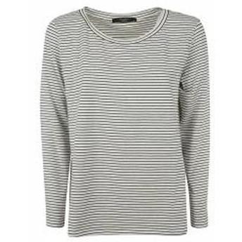 Max Mara レディースその他 Max Mara Striped Print Long-sleeved T-shirt