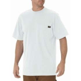 Dickies ディッキーズ ファッション トップス Dickies NEW White Mens Size LT Heavyweight Crew Neck Short Sleeve Tee