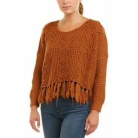 moon ムーン ファッション トップス Moon River Fringe Sweater S Orange