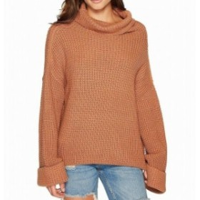 Free People フリーピープル ファッション トップス Free People NEW Brown Terracotta Womens XS Knitted Turtleneck Sweater