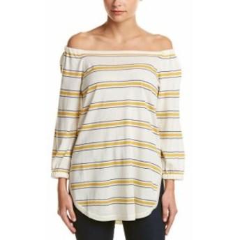 Bardot バルドー ファッション トップス Cullen Stripe Bardot Silk & Cashmere-Blend Top Xs