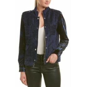 Drew  ファッション フォーマル Drew Long Sleeve Stud Detail Velvet Jacket