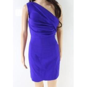 Dsquared2 ディースクエアード ファッション ドレス DSquared2 NEW Purple Womens Size 40 One Shoulder Sheath Dress Wool