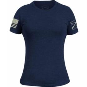 ファッション  Grunt Style Womens Basic Crewneck T-Shirt - Navy