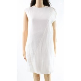ファッション ドレス Gabriele Colangelo NEW White Womens 6 Popover Crewneck Sheath Dress