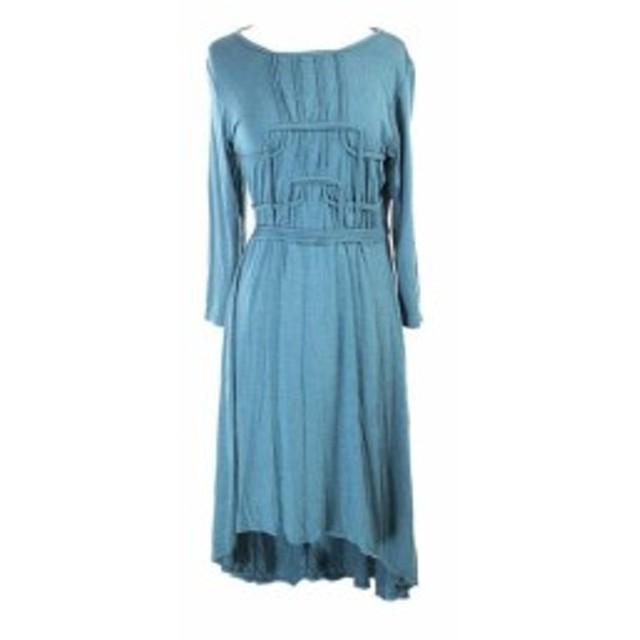 ファッション トップス Studio M New Teal Hi-Low Seamed Jersey Dress XL