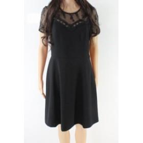 Nanette Lepore ナネットレポー ファッション ドレス Nanette Lepore NEW Black Womens 6 Floral Lace Illusion Sheath Dress