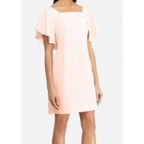 American  ファッション ドレス American Living Womens Pink Size 12 Flutter Sleeve Shift Dress