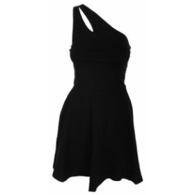 ファッション ドレス Bar Iii Deep Black One-Shoulder Fit & Flare Dress S