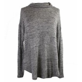 HEATHER  ファッション トップス Two by Vince Camuto. Grey Heather Metallic Turtleneck Sweater L