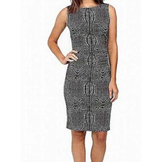 Norma  ファッション ドレス Norma Kamali NEW Black Womens Size Small S Ruched Illusion Sheath Dress