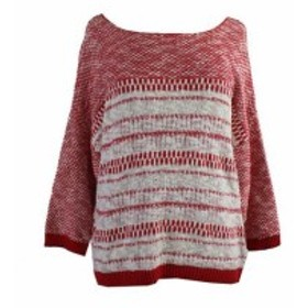 Rouge  ファッション トップス Ny Collection Rouge Blanc 3/4-Sleeve Pull-Over/L