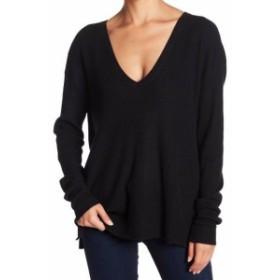 ファッション トップス Abound NEW Deep Black Womens Size XS Lightweight Knit Ribbed V-Neck Sweater 819