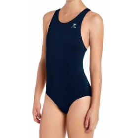 tyr ティア スポーツ用品 スイミング TYR Navy Blue Womens Size L UPF 50+ Wicking One-Piece Maxfit Swimwear