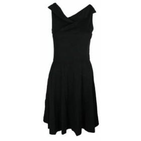 Three Dots スリー ドッツ ファッション ドレス Three Dots Black Sleeveless Jersey Fit & Flare Dress M