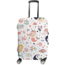 Zhigua スーツケースカバー お荷物カバー 伸縮素材 保護カバー 通気性 傷防止 海外旅行 出張用 便利グッズ 男女兼用 魚の柄