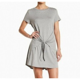 Soprano ソプラノ ファッション ドレス Soprano Womens Dress Gray Size XS Shirt Waist-Tie Crewneck T-Shirt