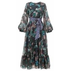 ビューラ Beulah レディース ワンピース ワンピース・ドレス sara forest-print silk-chiffon dress Green