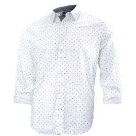 nautica ノーティカ ファッション アウター Nautica Mens Geographic Print Long Sleeve Button Down Shirt
