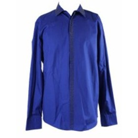 ファッション ドレス Inc International Concepts Cerulean Blue with glitter studs shirt m