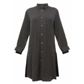 ジュンヤ ワタナベ Junya Watanabe レディース ワンピース シャツワンピース ワンピース・ドレス polka-dot satin shirtdress Black
