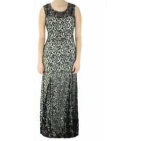 Sequin  ファッション ドレス Sequin Hearts Black White Glitter Lace Gown 9