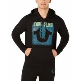 Religion  ファッション トップス True Religion Mens Sweater Black Size Large L Logo Front Hooded