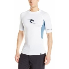 Rip Curl リップ カール ファッション 小物 Rip Curl Mens Wave UV Short Sleeve Rashguard Tee T-Shirt