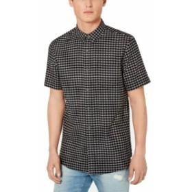 American  ファッション アウター American Rag Mens Shirt Black Size Small S Gingham Print Button Down