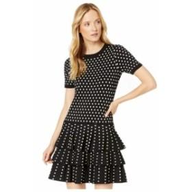 マイケル コース MICHAEL Michael Kors レディース ワンピース ワンピース・ドレス Polka Dot 3 Tier Dress Black/Bone