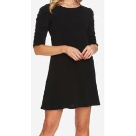 CeCe  ファッション ドレス CeCe NEW Black Womens Size XS Gathered High-Neck Solid Shift Dress