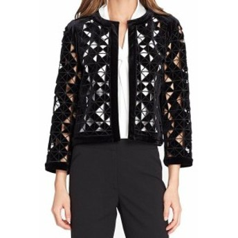 Blazer ブレザー ファッション 衣類 Tahari by ASL NEW Black Womens Size 6 Lazer Cutout Blazer Jacket