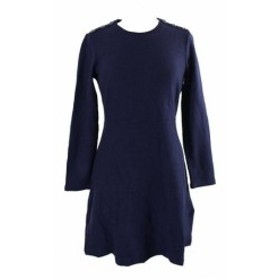 Maison  ファッション ドレス Maison Jules Blue Long-Sleeve A-Line Dress S