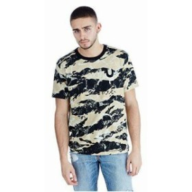 Religion  ファッション トップス True Religion Mens Geo Camo Buddha Graphic Tee T-Shirt in Black (L XL 2XL)