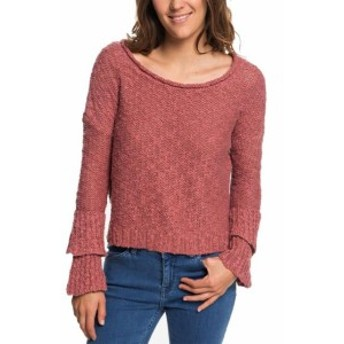 Roxy ロキシー ファッション トップス Roxy Womens Pink Size 8 V-Back Textured Knit Scoop Neck Sweater