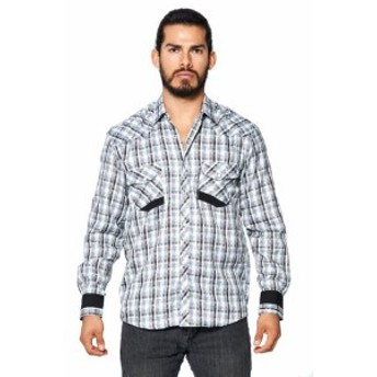 lw エルダブリュー ファッション アウター LW Mens Classic Checkered Striped Western Rodeo Pearl Snap Button Up Shirt