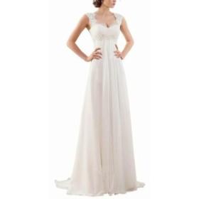 ファッション ドレス Erosebridal Womens Gown White Ivory Size 22W Lace Embroidered Chiffon