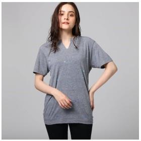 【ジェット/JET】 総柄プリントキーネックTシャツ