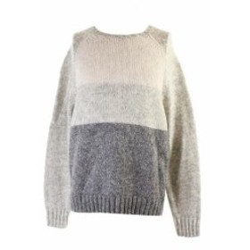 Silver  ファッション トップス Club Room Silver Colorblocked Crew-Neck Sweater XL