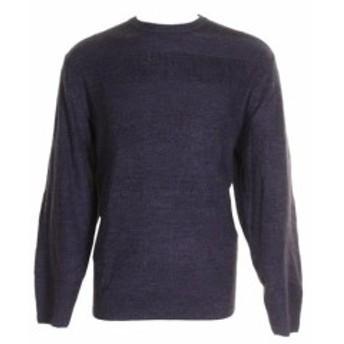 Weatherproof ウォータープルーフ ファッション トップス Weatherproof Vintage MenS Blue Textured Striped Crew Neck Sweater XL