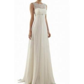 ファッション ドレス ABaowedding Womens White Size 10 Embellished Lace Illusion Gown