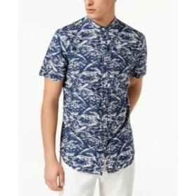 ファッション アウター INC NEW Blue Mens Size Small S Button Down Sandstorm Printed Shirt