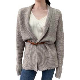 HILLTOPTOCLOUDニット カーディガン レディース アウター 厚手 セーター 長袖 羽織り 2way ゆったり 大きサイズ 秋冬