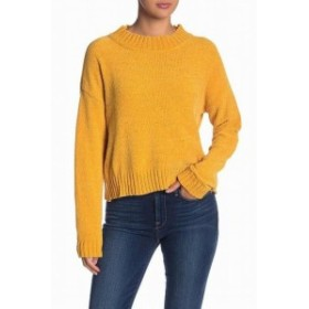 Gold ゴールド ファッション トップス Woven Heart Womens Gold Yellow Size XL Mock Neck Crewneck Knit Sweater #857